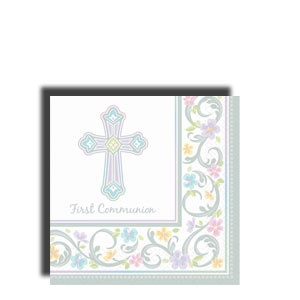 Blessed Day Communion Beverage Napkins- 36ct