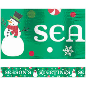 Season's Greetings Foil Banner- 9ft