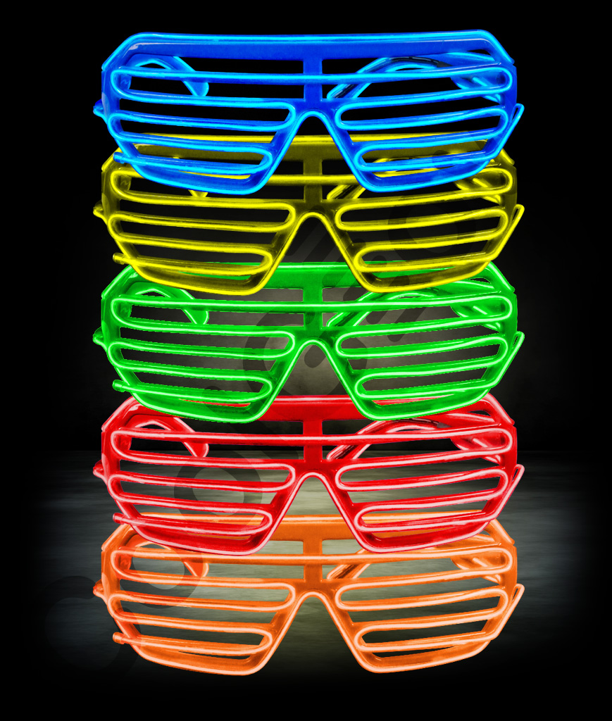 EL Shutter Slotted Shades - Assorted
