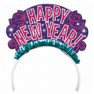 Fun New Years Tiara- 7 Inch