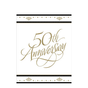 50th Anniversary Gold Invitations