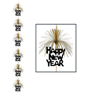Happy New Year Firework Stringer - Gold
