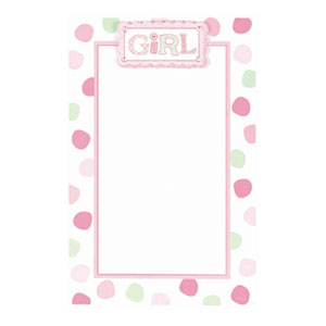 Polka Dot Girl Imprintable Invitation - 12ct