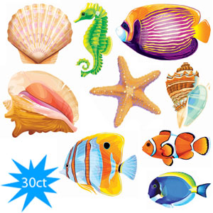 Sea Life Cutout Assortment- 30ct
