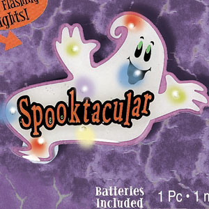 Spooktacular Flashing Lights Button- 2in