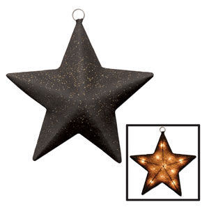 Gold Light-Up Sparkle Star - 16in