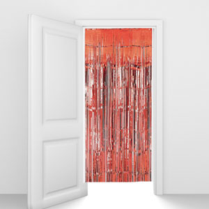 Red Foil Door Curtain - 8ft