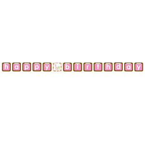 Sweet at One Girl Letter Banner - Felt