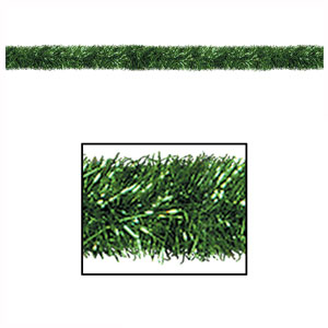 Green Gleam 'n Tinsel Garland - 100ft