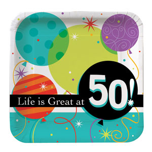 Life is Great at 50 Dinner Plates - 8ct