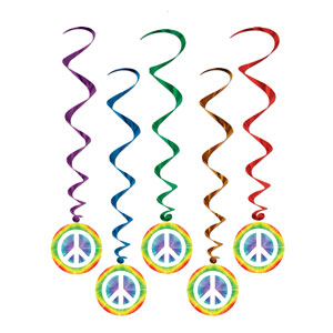 Peace Sign Whirls - 5ct
