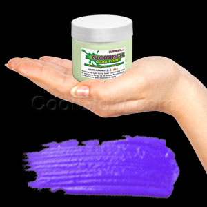 Glominex Glow Paint Invisible Day 4 oz Jar Purple