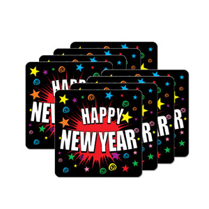 Happy New Year Coasters - 8ct