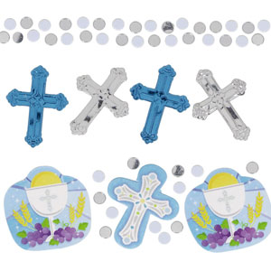 Communion Blue Value Pack Confetti