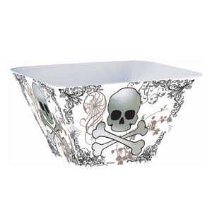 Skull and Bones Large Square Bowl- 10in