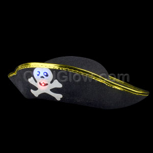LED Pirate Skull Hat