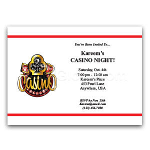 Casino Jewels - Custom Invitations