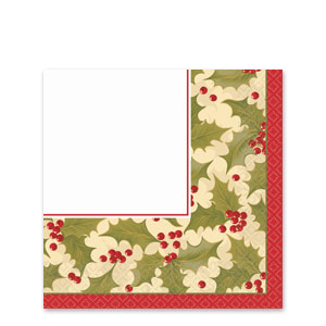 Winter Holly Plastic Table Covers