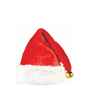 Santa Hat with Bell- 16 Inch