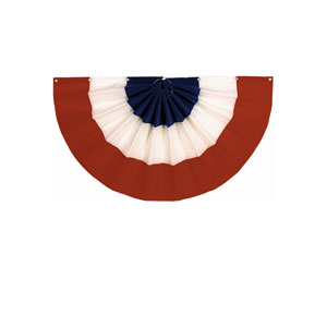 Velvet Patriotic Flag Bunting- 24in