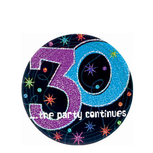 The Party Continues-30 7 Inch Prismatic Plates- 8ct