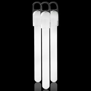 4 Inch Standard Glow Sticks - White
