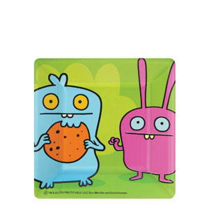 Ugly Doll Square 7 Inch Plates- 8ct