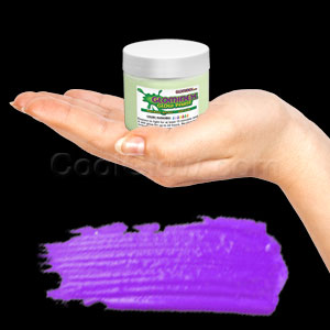 Glominex Glow Paint 2 oz Jar - Invisible Day Purple