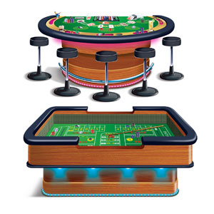 Craps and Blackjack Tables Casino Props- 2pc