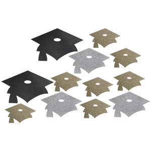Glitter Grad Cutout - Assorted