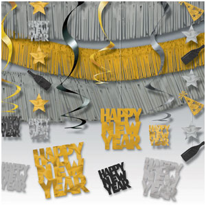 New Years Giant Room Decorating Kit - 21ct
