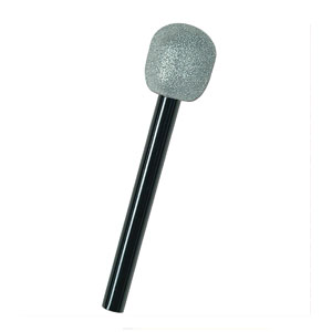 Glittered Microphone - Grey