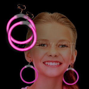 Glow Earrings - Pink
