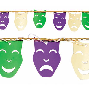 Mardi Gras Masks String - 9ft