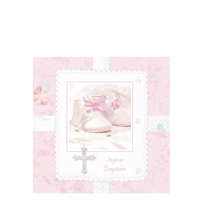 Tiny Blessing Pink Luncheon Napkins- 16ct