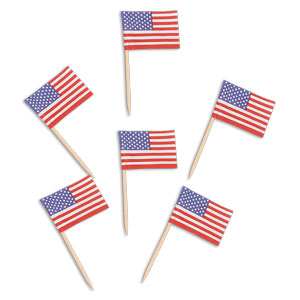 American Flag Toothpicks - 144ct