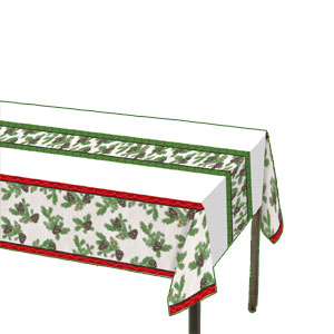 Winter Holidays Plastic Tablecover