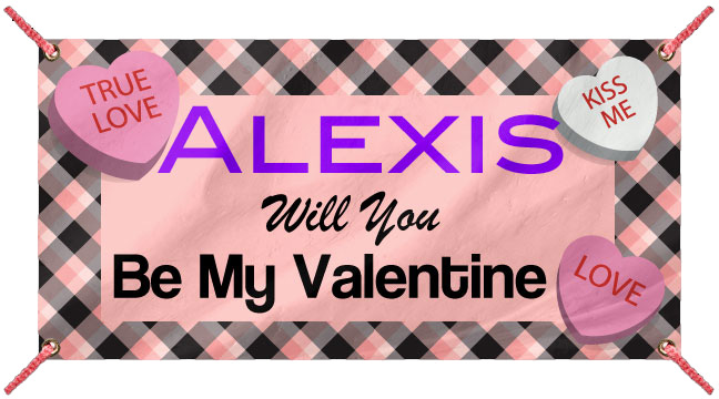 Candy Hearts - Custom Banner
