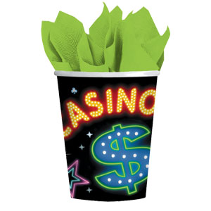 Casino Party 9 oz. Cups- 8ct
