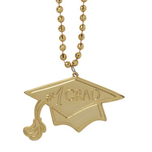 Yellow Graduation Bead Necklace