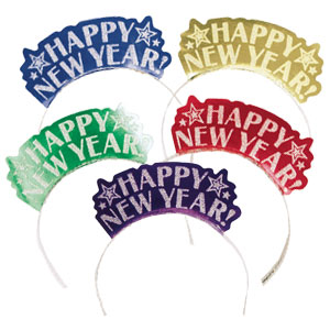 Happy New Year Tiaras- Jewel Tones 7 Inch 12ct