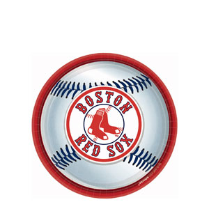 Boston Red Sox 9 Inch Plates- 18ct