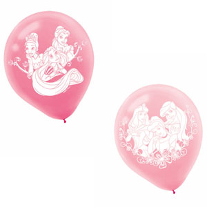 Disney Princess Latex Balloons- 6ct