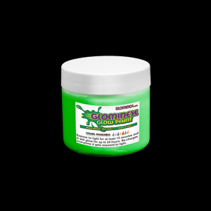 Glominex Glow Paint 4 oz Jar  Green
