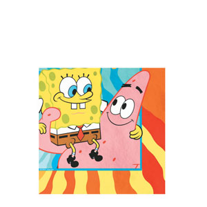 SpongeBob Buddies Beverage Napkins- 16ct
