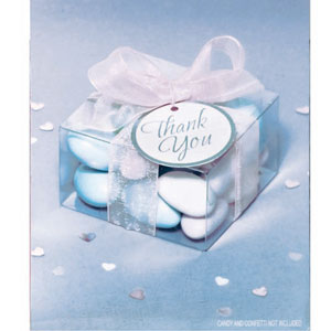 Clear Box Wedding Favor Kit - 50 Ct