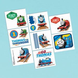 Thomas The Tank Tattoo Favors- 16ct