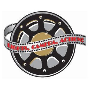 Hollywood Film Cutout- 1ct