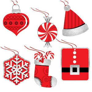 Holiday Fun Tape-on Tags- 36ct