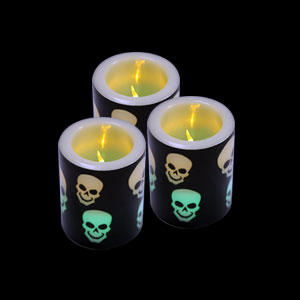 LED Votive Candle - Skulls